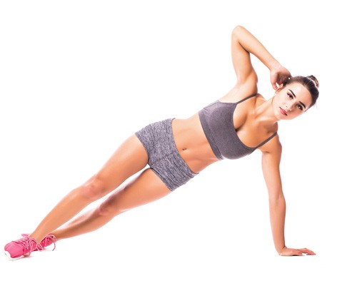 how-to-get-rid-of-love-handles---Side-Plank-Crunch
