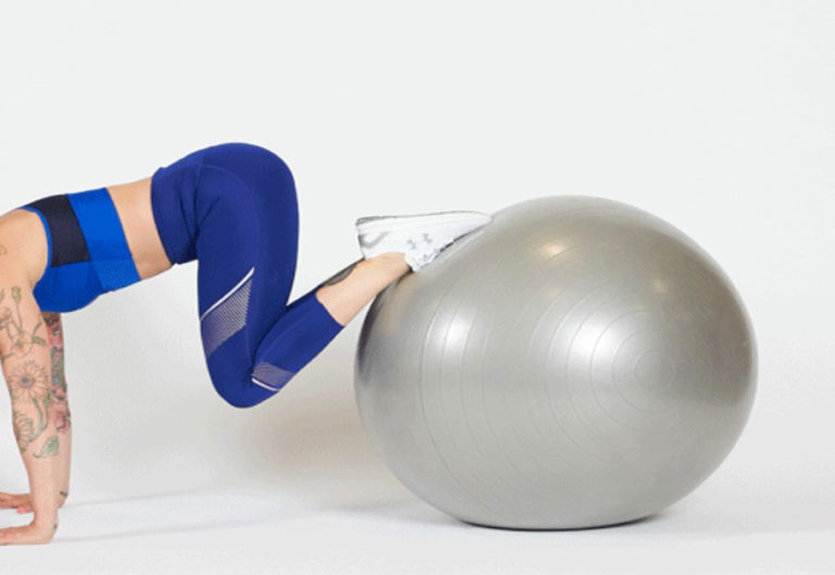 plank on exercise ball 4evafit 1