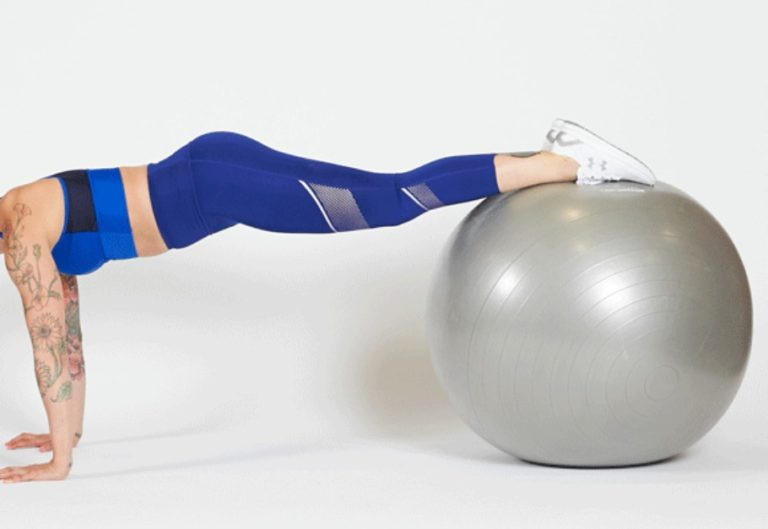 plank on exercise ball 4evafit lifestyle