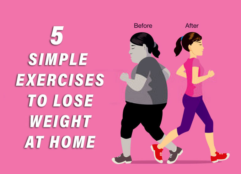 5 simple exercises to lose weight at home