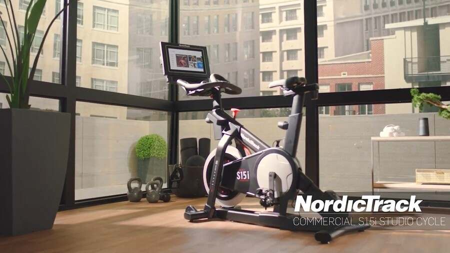 NordicTrack Commercial S22i Studio Cycle video