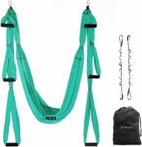 UpCircleSeven Aerial Yoga Swing Set - Yoga Hammock/Sling Kit + Extension Straps & eBook
