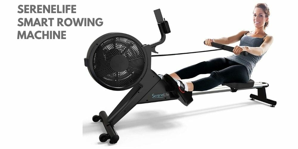 SereneLife Smart Rowing Machine Home Rowing Machine 1